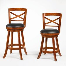 "Jackman 29"" Swivel Barstool in Light Cherry"