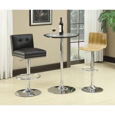 Kemp Bar Table in Combination of Black and Silver