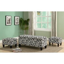 Oak Valley Upholstered Storage Bench and Ottoman Set