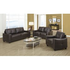 Oakwood Leather Living Room Collection