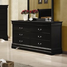 Carbon 6 Drawer Dresser