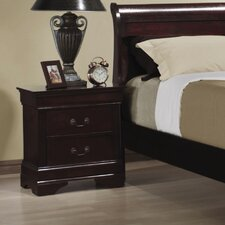 <strong>Wildon Home ®</strong> Louis Philippe 2 Drawer Nightstand