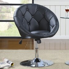 Hebron Swivel Chair in Black