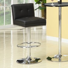 Groom Barstool with Button Back in Black