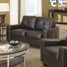 <strong>Wildon Home ®</strong> Oakwood Leather Loveseat