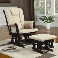 <strong>Wildon Home ®</strong> Poth Microfiber Glider and Ottoman