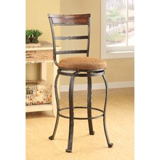 Tavio Ladder Back Swivel Barstool