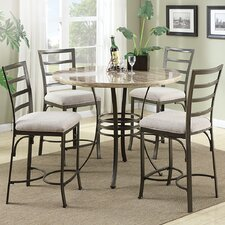 <strong>Wildon Home ®</strong> Val 5 Piece Counter Height Dining Set