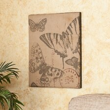 <strong>Wildon Home ®</strong> Vasilis Vintage Butterfly Burlap Message Board