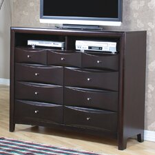 <strong>Wildon Home ®</strong> Applewood 9 Drawer Media Chest
