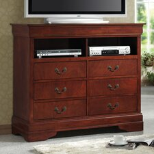 <strong>Wildon Home ®</strong> Fountain Hills Media 6 Drawer Chest