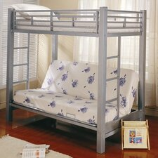 Eddyville Twin over Full Low Loft Bed with Built-In Ladder