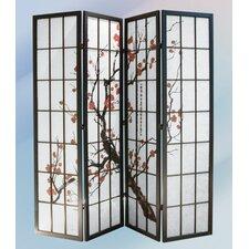 "70.38"" x 72"" 4 Panel Room Divider"