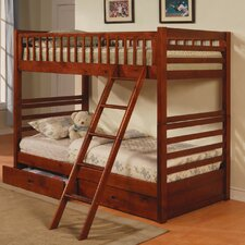 <strong>Wildon Home ®</strong> Dilley Twin over Twin Bunk Bed with Storage