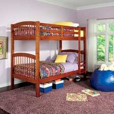 <strong>Wildon Home ®</strong> Diamond Lake Twin over Twin Bunk Bed with Built-In Ladder