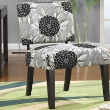 <strong>Wildon Home ®</strong> Toyah Flower Print Fabric Slipper Chair