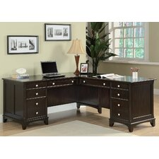 <strong>Wildon Home ®</strong> Doyle L-Shaped Desk with File