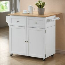 <strong>Wildon Home ®</strong> Kitchen Cart with Butcher Block Top
