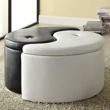 <strong>Wildon Home ®</strong> Ying Yang Storage Ottoman