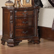 <strong>Wildon Home ®</strong> Martone 3 Drawer Nightstand
