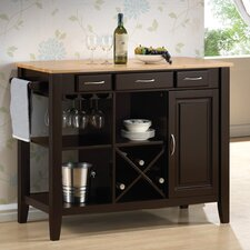 <strong>Wildon Home ®</strong> Kitchen Island with Butcher Block