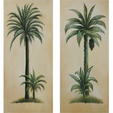 Island Breeze Oil Painting Art (Set of 2)