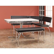 <strong>Wildon Home ®</strong> Retro Dining Set with Table, Corner Bench and Floating Bench