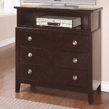 <strong>Wildon Home ®</strong> Allston 3 Drawer Media Chest