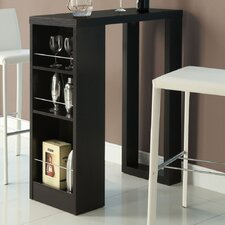 Bar Table with Storage Shelves