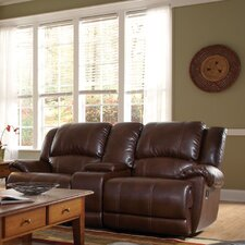 Seville Motion Bonded Leather Loveseat