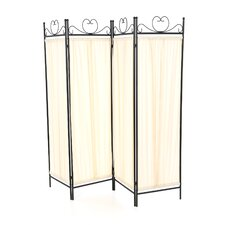 "79"" x 69.75"" Port Angeles Butterfly Decor Folding 4 Panel Room Divider"