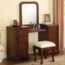 <strong>Wildon Home ®</strong> Louis Phillipe Vanity Set with Mirror