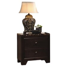 Annetta South 2 Drawer Nightstand in Walnut