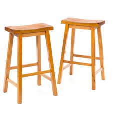 "Aloha 29"" Bar Stool in Oak"
