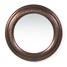 <strong>Wildon Home ®</strong> Toledo Beveled Round Mirror in Dark Bronze