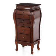 "Warden 39"" Jewelry Armoire in Antique Cherry"