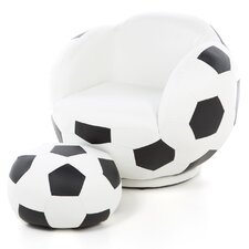 <strong>Wildon Home ®</strong> Kid's Soccer Ball Chair and Ottoman