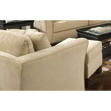 Cumberland Grove Velvet Chair and Ottoman