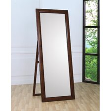 Hillary Floor Mirror in Walnut