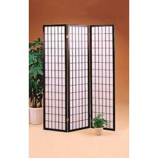 "70.25"" x 51.75"" Olympia Folding 3 Panel Room Divider"