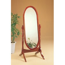 "Cherry 59"" H x 23"" W Redmond Cheval Mirror"