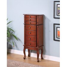 "Wapato 40.25"" Jewelry Armoire in Warm Brown"
