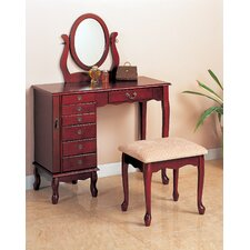 "Winlock 36"" Vanity Set with Stool in Cherry"