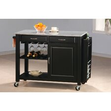 <strong>Wildon Home ®</strong> Cottonwood Kitchen Cart with Granite Top