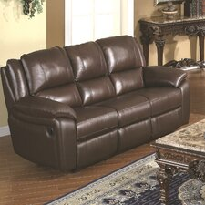 Baxtor Leather Reclining Sofa