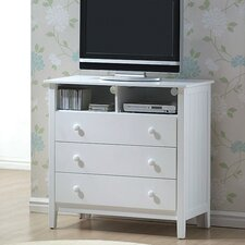 Avalon 3 Drawer Media Chest