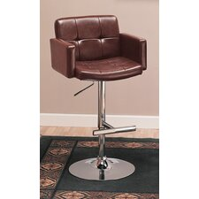 "Colorado City 29"" Tufted Vinyl Barstool with Footrest in Black"