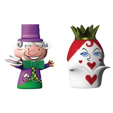 The Hatter and The Queen of Hearts Figurines (Set of 2)