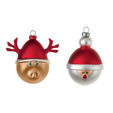 Babbarenna E Babbonatale Christmas Tree Ornament Set (Set of 2)