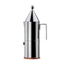 <strong>Alessi</strong> La Conica Espresso / Coffee Maker in Mirror Polished by Aldo Rossi